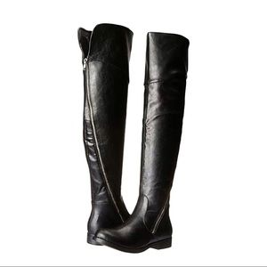 WILD PAIR Over-The-Knee Boots Black Asymmetrical